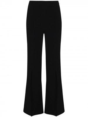 Расклешенные брюки Parkgate с разрезами Roland Mouret. Цвет: черный
