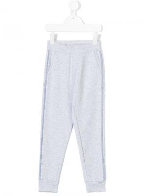 Спортивные брюки с полосками по бокам Monnalisa. Цвет: серый