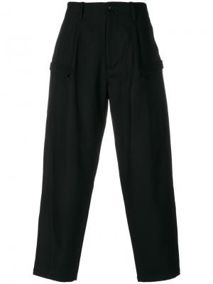 Брюки с боковыми карманами Yohji Yamamoto. Цвет: черный