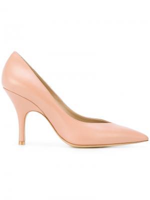 Туфли-лодочки с заостренным носком Giorgio Armani. Цвет: розовый и фиолетовый