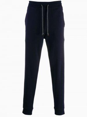 Спортивные брюки с кулиской Brunello Cucinelli. Цвет: синий