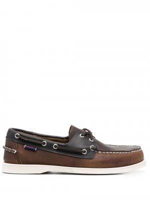 Туфли Dockside на шнуровке Sebago. Цвет: коричневый
