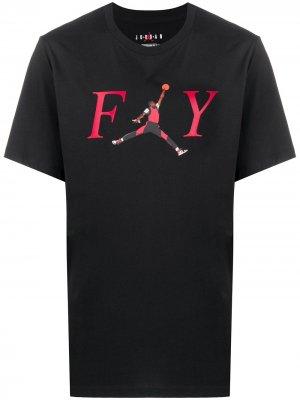 Футболка FY Jordan. Цвет: черный
