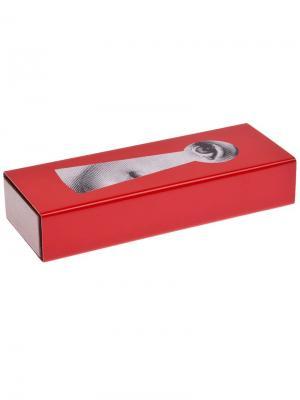 Коробочка с принтом Fornasetti. Цвет: красный