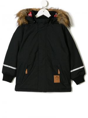 Hooded rain jacket Mini Rodini. Цвет: черный