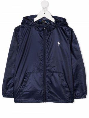 Куртка Polo Pony с капюшоном Ralph Lauren Kids. Цвет: синий
