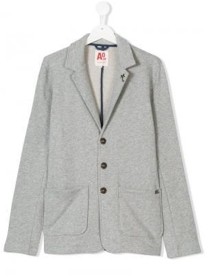 Пиджак из джерси в стиле casual на пуговицах American Outfitters Kids. Цвет: серый