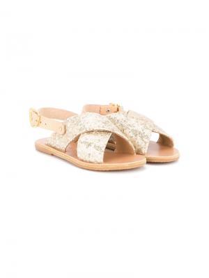 Сандалии с перекрещивающимися ремешками Ancient Greek Sandals. Цвет: металлик