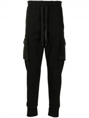 Спортивные брюки с логотипом Dolce & Gabbana. Цвет: черный