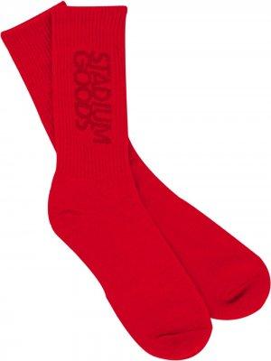 Носки с вышитым логотипом Stadium Goods. Цвет: красный