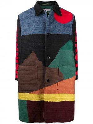 Пальто миди с принтом Walter Van Beirendonck. Цвет: черный