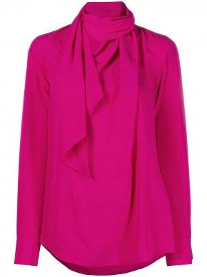 Блузка с шарфом Victoria Beckham. Цвет: розовый