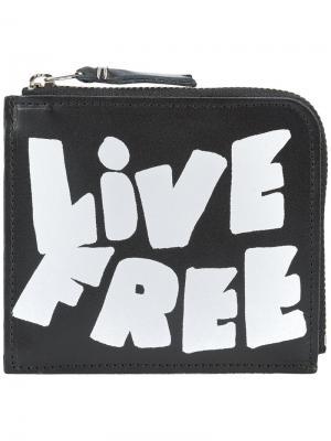 Бумажник Live Free Comme Des Garçons Wallet. Цвет: черный