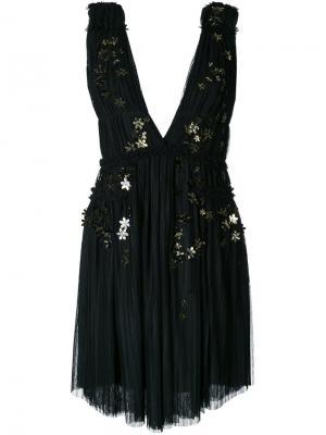 Платье с цветочной аппликацией Jay Ahr. Цвет: чёрный